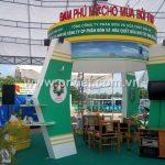 Thi công gian hàng Đạm Phú Mỹ tại hội chợ ở Kiên Giang