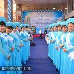 PG Lễ Tân chào đón khách Khánh Thành