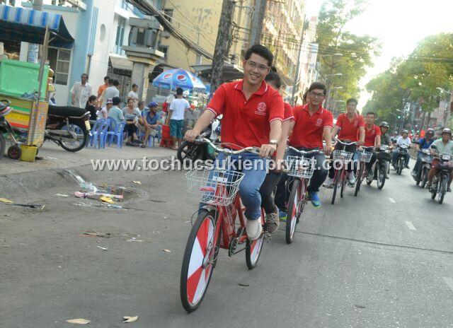Roadshow xe đạp Dương Minh qua các tuyến đường