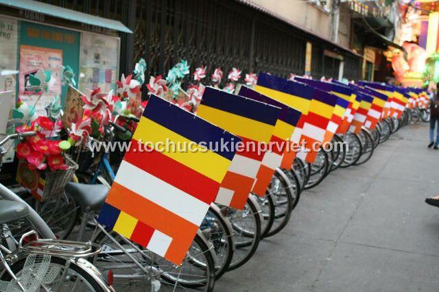 xe đạp roadshow mừng lễ phật đản