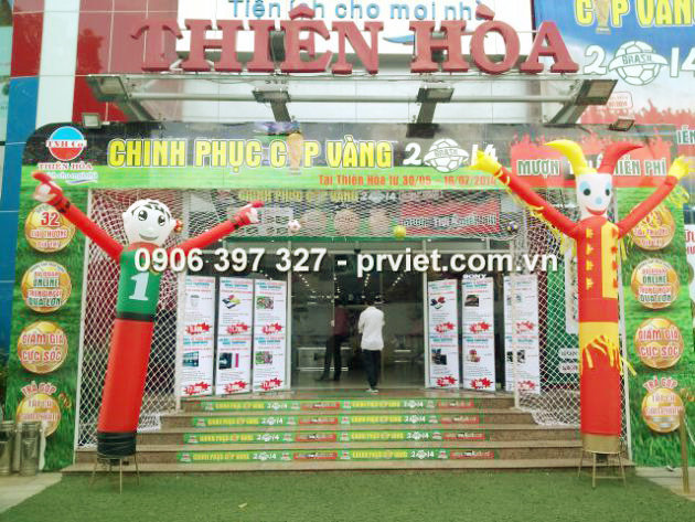 PR Việt cung cấp rối hơi cho Điện Máy Thiên Hòa