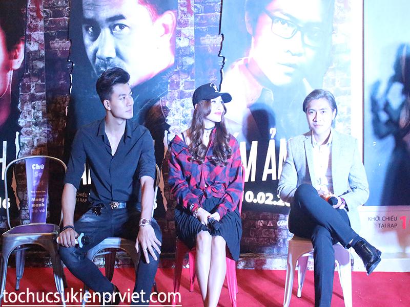 Bộ ba nhân vật chính trong phim: Hiếu Nguyễn (trái), Yaya Trương Nhi (giữa), Trần Tuấn Lương (phải)