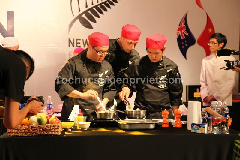 Tổ chức sự kiện hội thi nấu ăn Newzealand