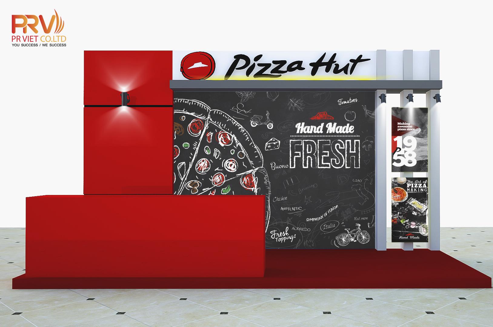 Thiết kế gian hàng triễn lãm Pizza Hut