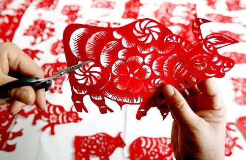 cắt giấy kirigami trang trí tết handmade